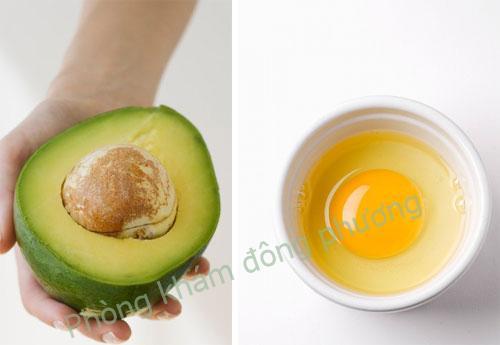 Cách trị nám da mặt bằng trứng gà và bơ