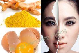 Điều trị nám da tàn nhang với trứng gà và nghệ