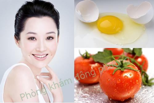 Trị nám da mặt bằng trứng gà và cà chua