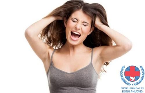 Dị ứng da đầu do nhuộm tóc