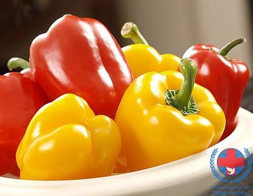 Bệnh zona nên ăn gì chính là ớt ngọt